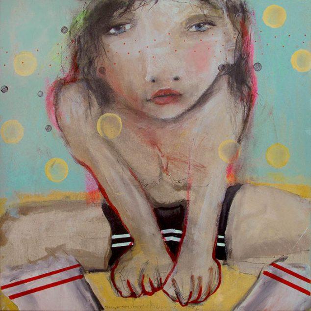 Imagen: Jo Posture, mixtalienzo, 50x50 cm.