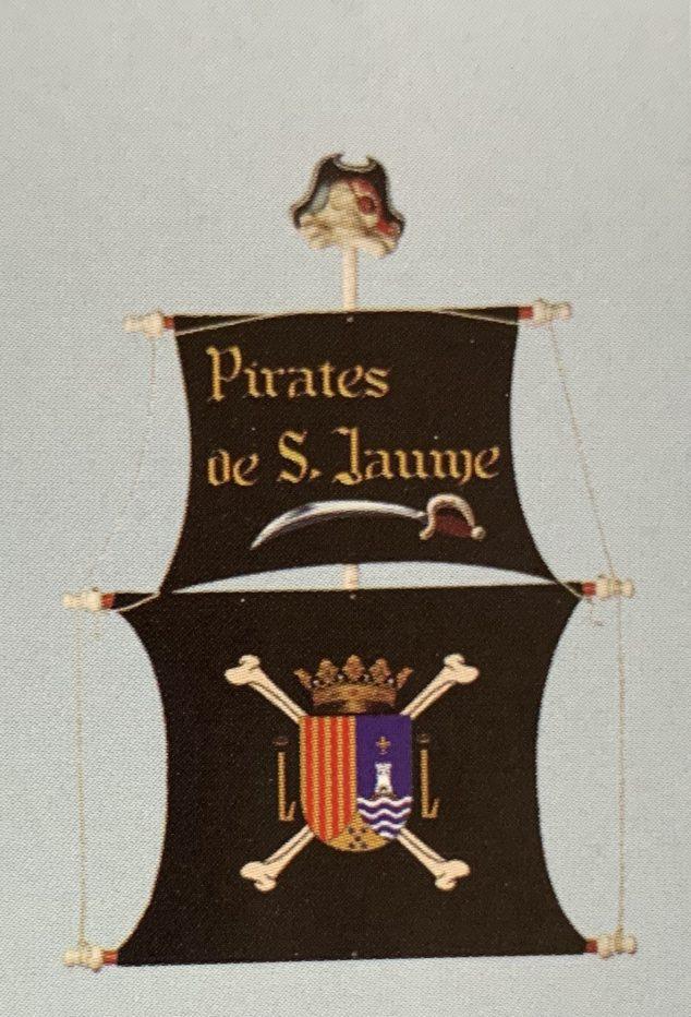 Imagen: Estandarte de la Filà Pirates de Sant Jaume