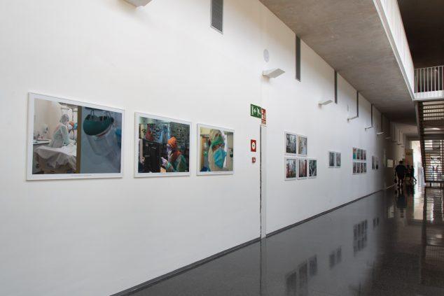 Imagen: Exposición sobre el coronavirus en el Hospital de Dénia