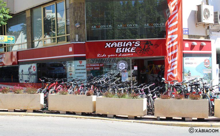 Exterior de la tienda de Jávea de Xabia's Bike