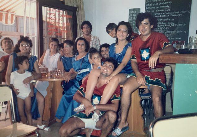 Imagen: Filà Ballesters Xàbia en el primer año de su fundación