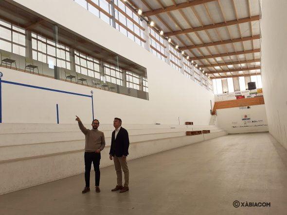 Imagen: Interior del Trinquet Municipal de Xàbia