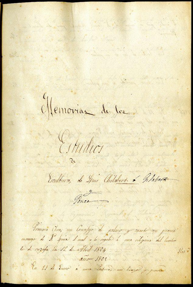 Imagen: Manuscrito de Luis Gilabert