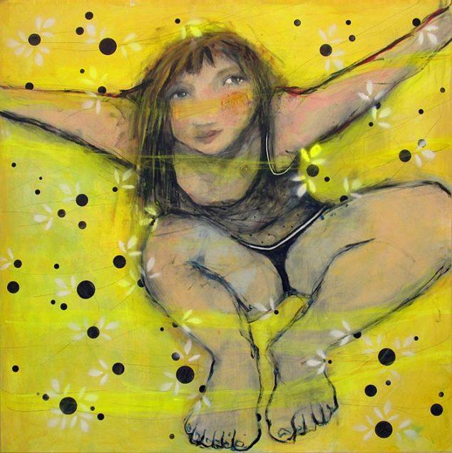 Imagen: Altruista, mixta/lienzo, 120x120 cm.