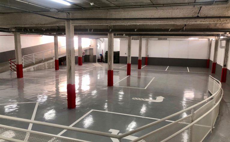 Nuevo parking de Policlínica Glorieta