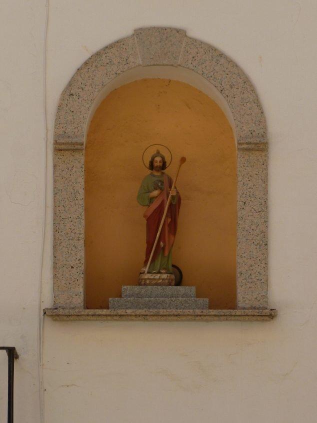 Imagen: San Judas Tadeo en la hornacina de la Plaça de Baix