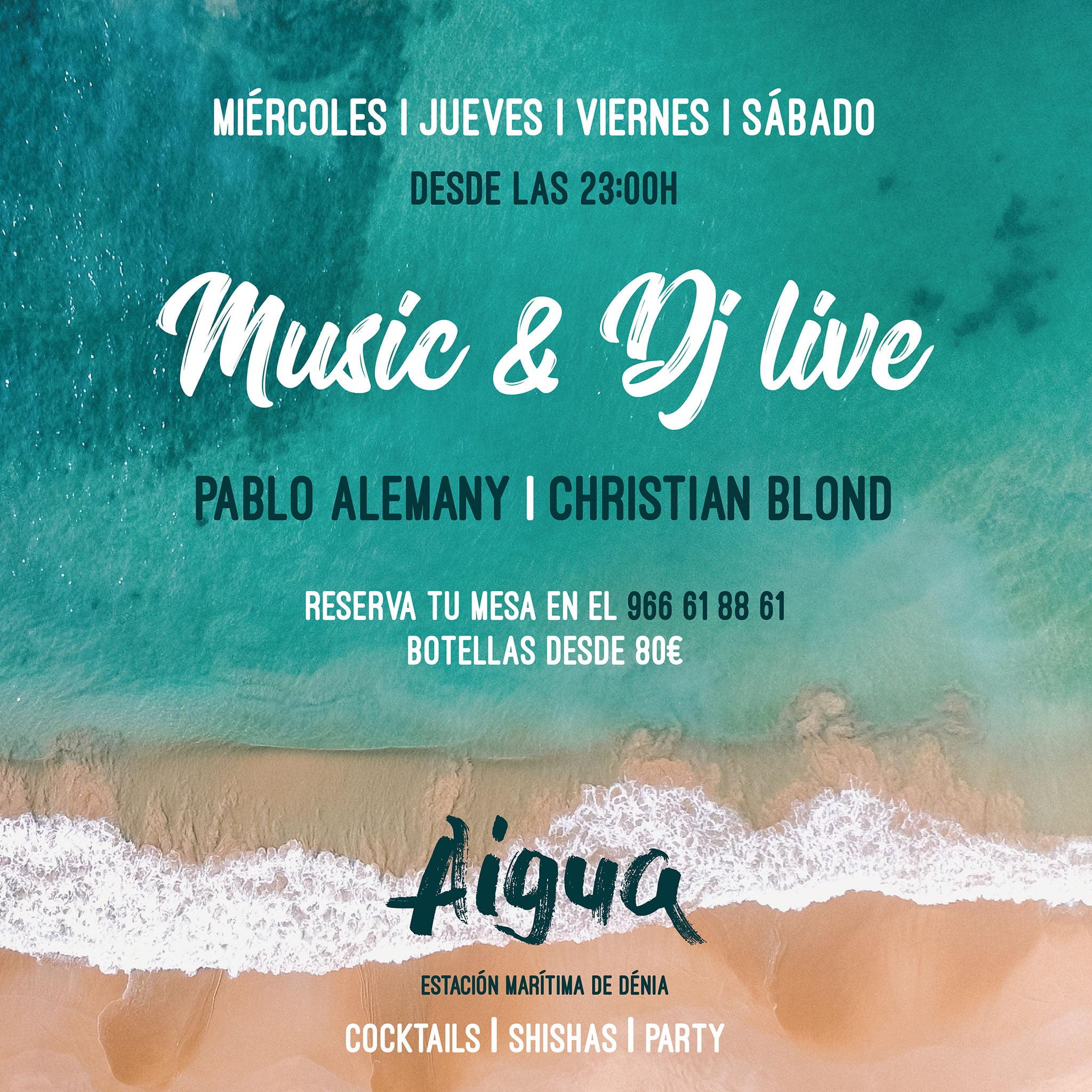 Sesiones de música y DJ en 'Aigua', el espacio de copas de Pa Picar Algo