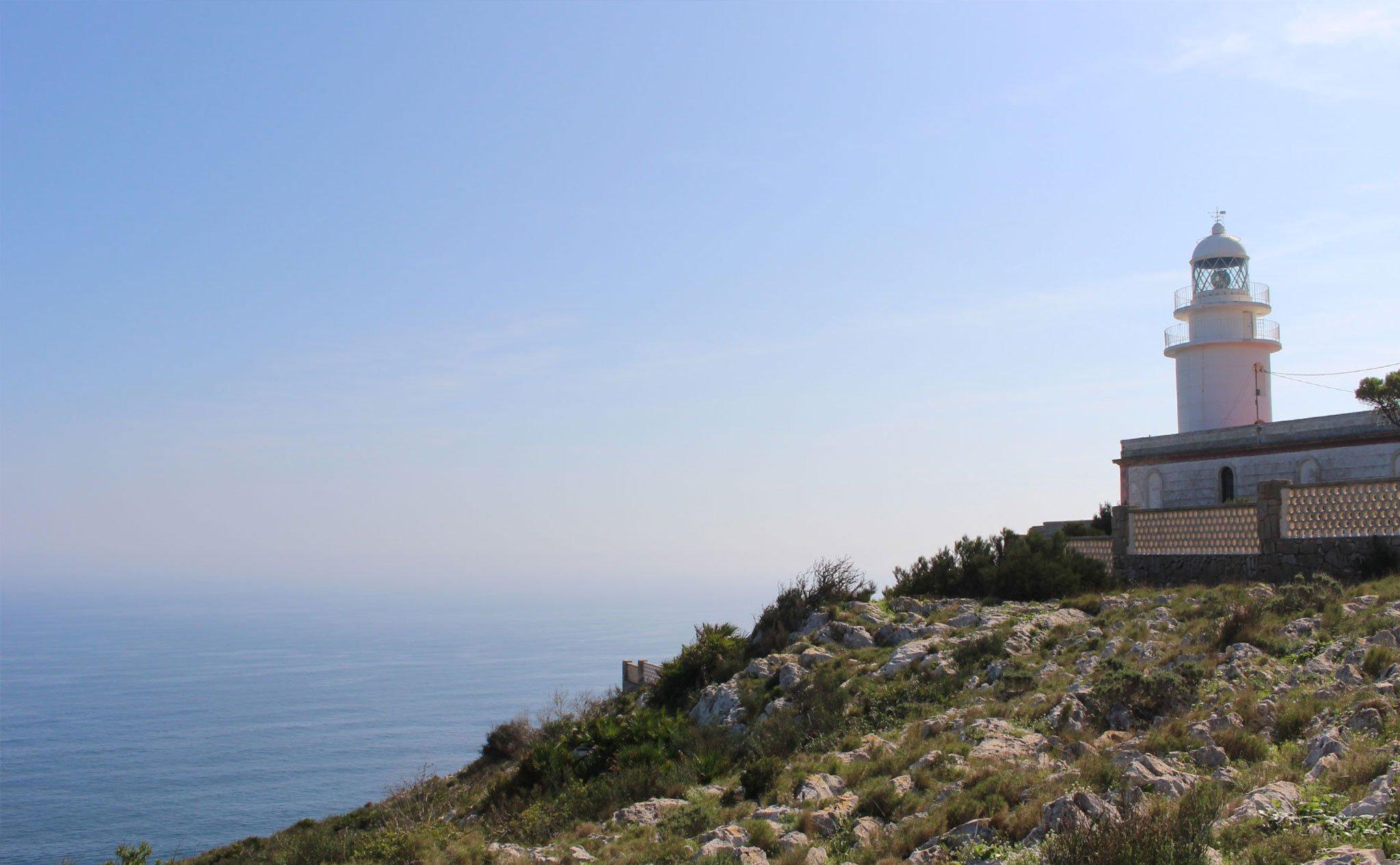 Vista del faro del Cap de Sant Antoni de Xàbia