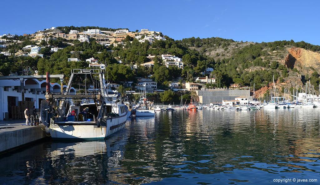 Barcas de pescadores en el puerto de Xàbia