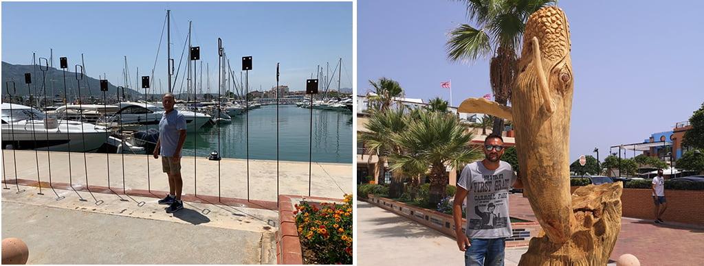 Artistas de Xàbia exponen en el Puerto Marina de Dénia