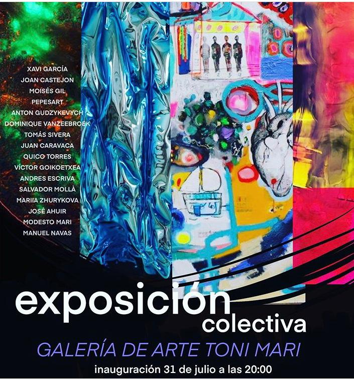 Cartel de la exposición colectiva