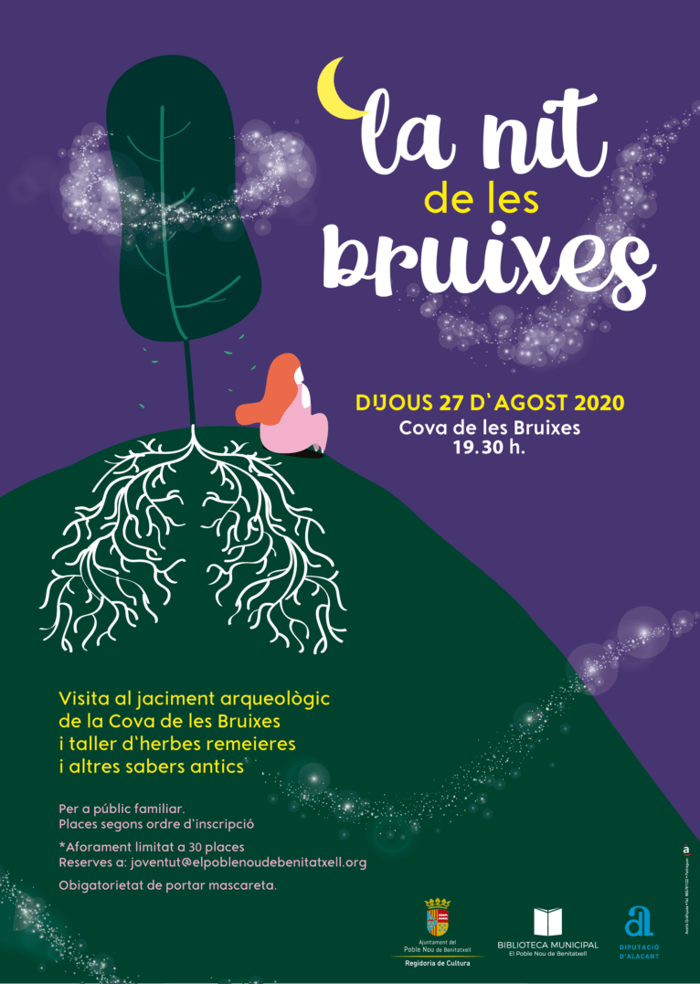 Cartel Noche de Brujas en Benitatxell
