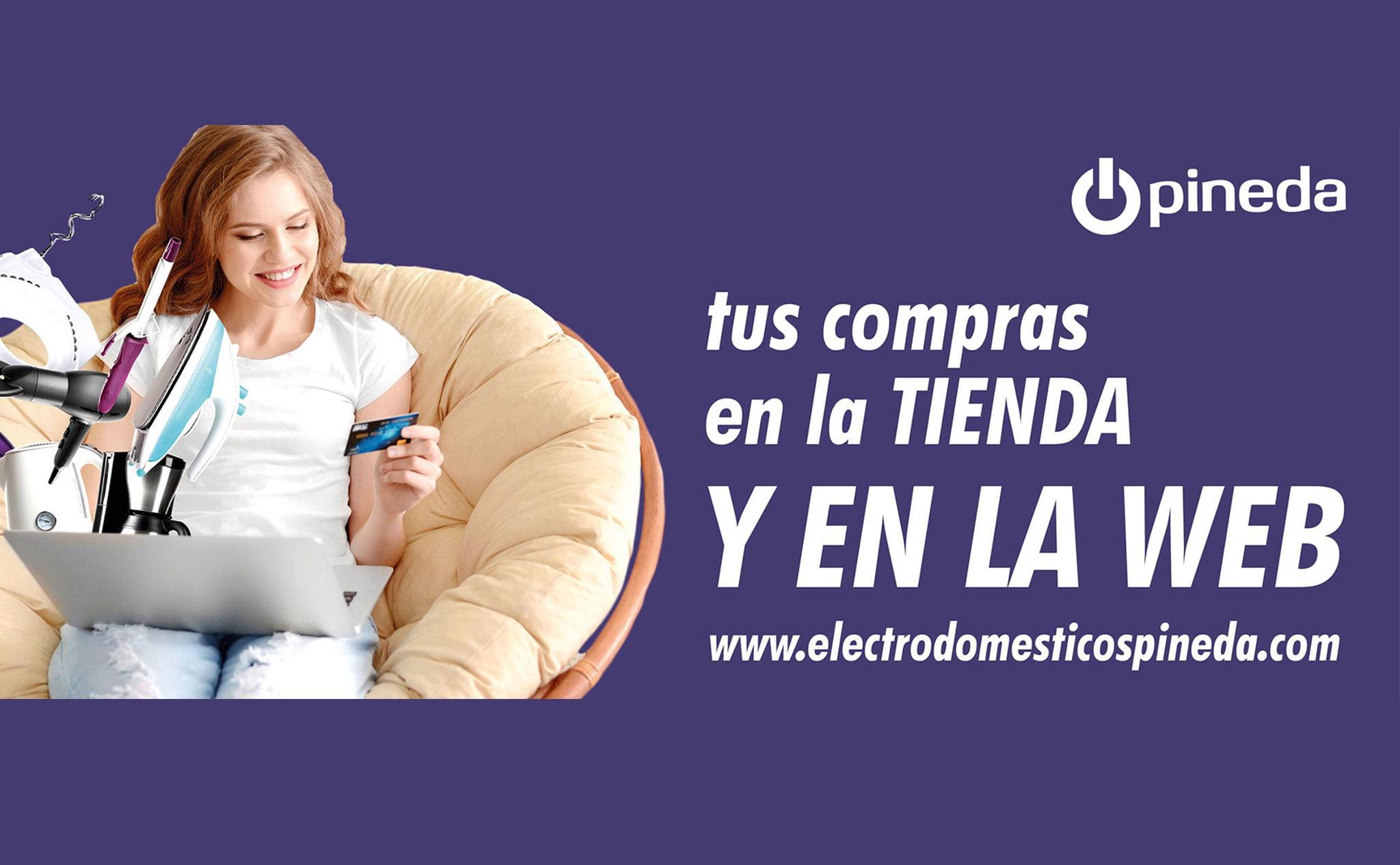 Entra en la web de Electrodomésticos Pineda y realiza con comodidad tus compras