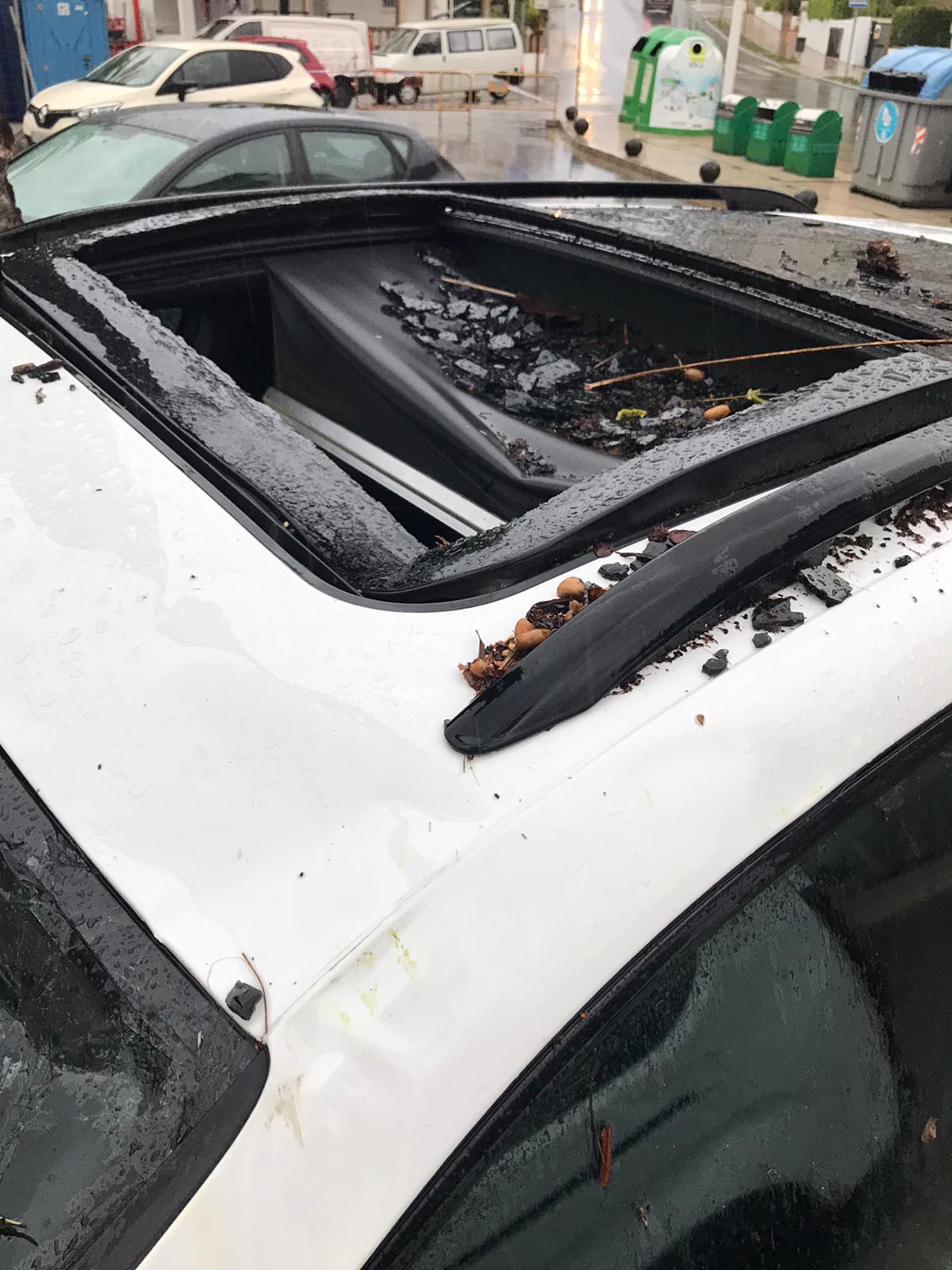 Daños ocasionados al vehículo