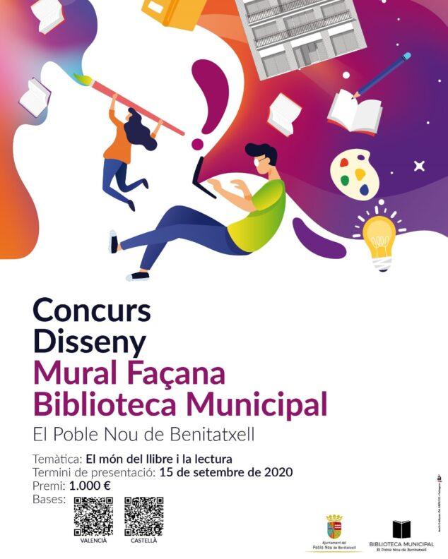 Imagen: Diseño de un mural para la Biblioteca de El Poble Nou de Benitatxell