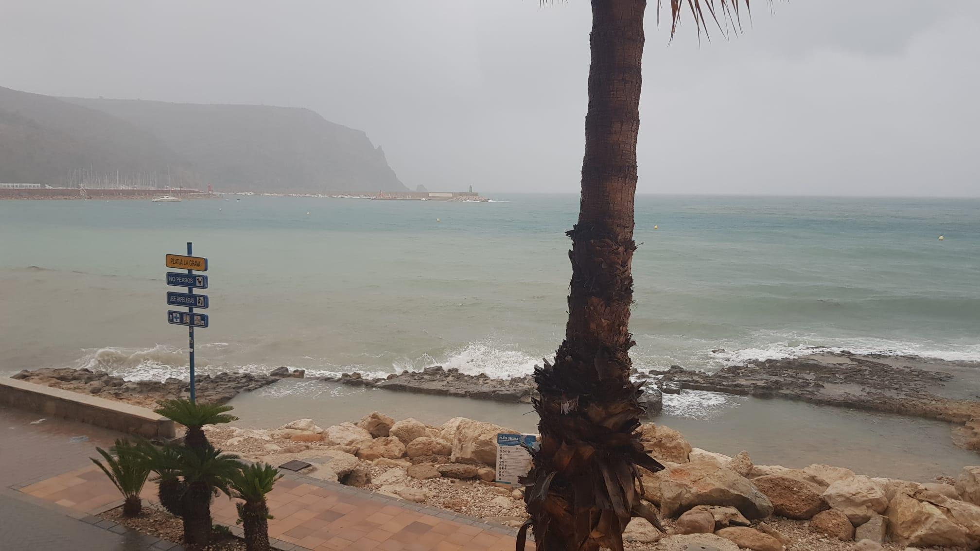 Lluvia en el Port de Xàbia