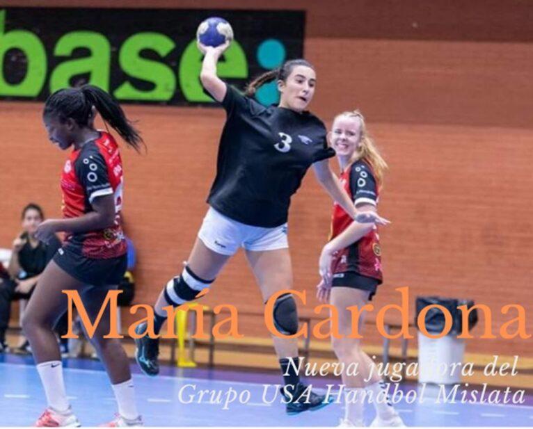 María Cardona se une a las filas del Grupo USA Handbol Mislata