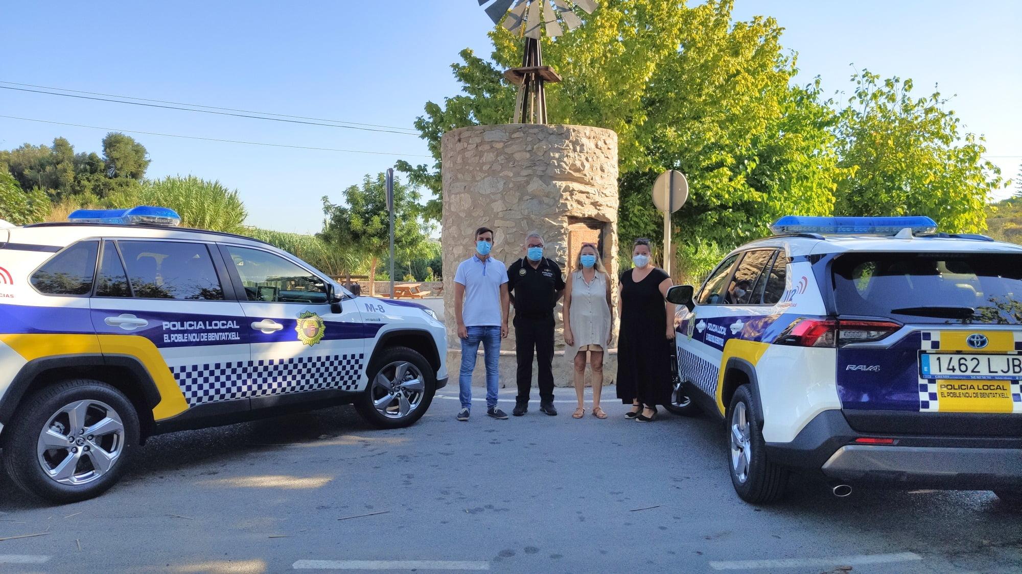 Nuevos vehículos de la Policía Local de Benitatxell