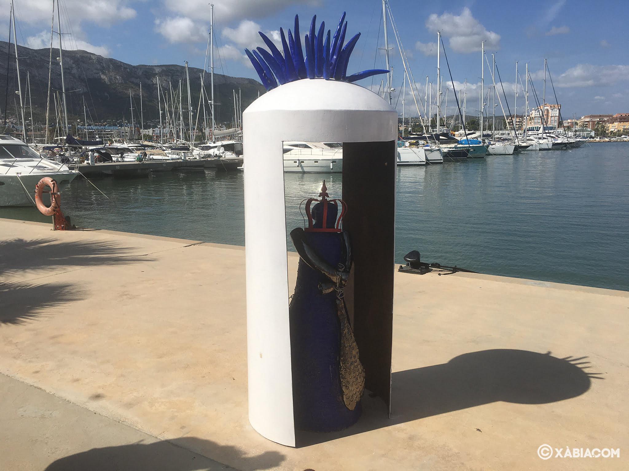 Obra expuesta en la muestra de Marina de Dénia