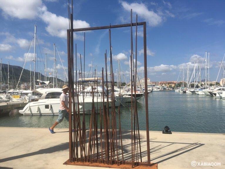 Obra expuesta en la muestra 'Esculturas frente al mar'