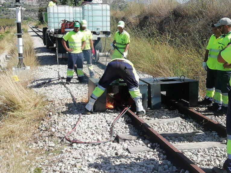 Obras línea ferrocarril Teulada - Gata de Gorgos