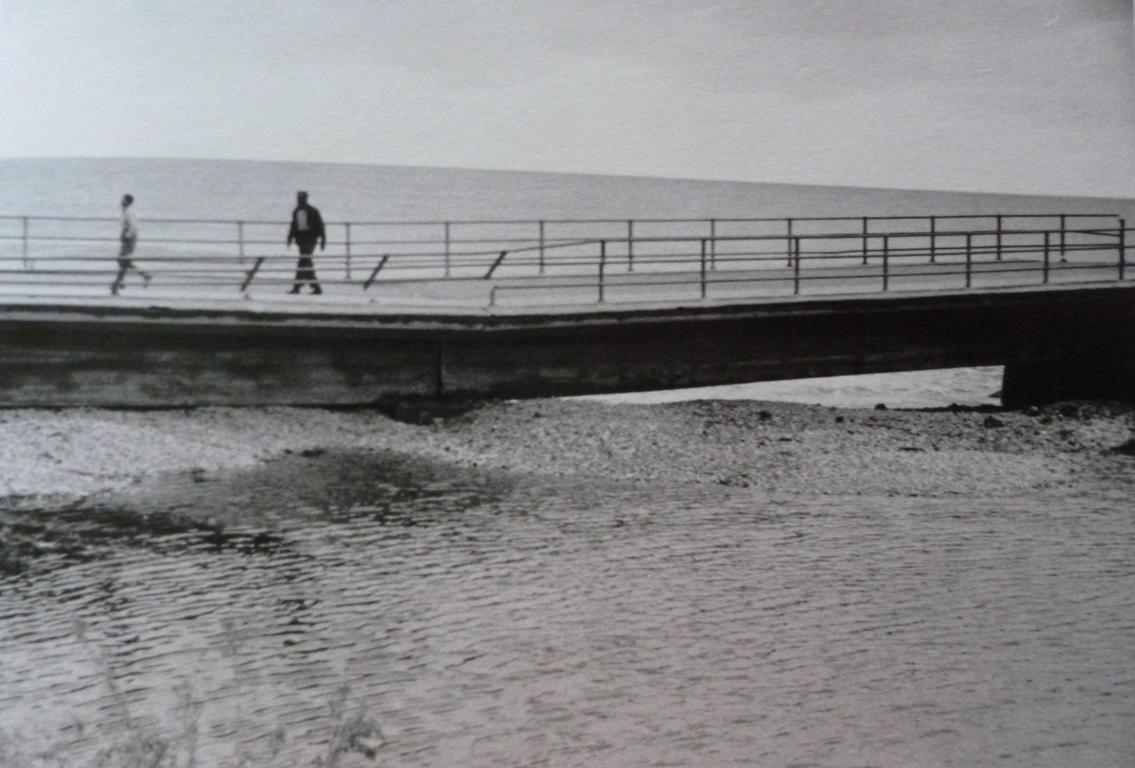 Puente de Triana en 1957 tras la riada