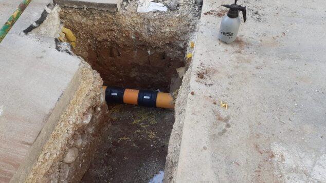 Imagen: Reparación de la tubería