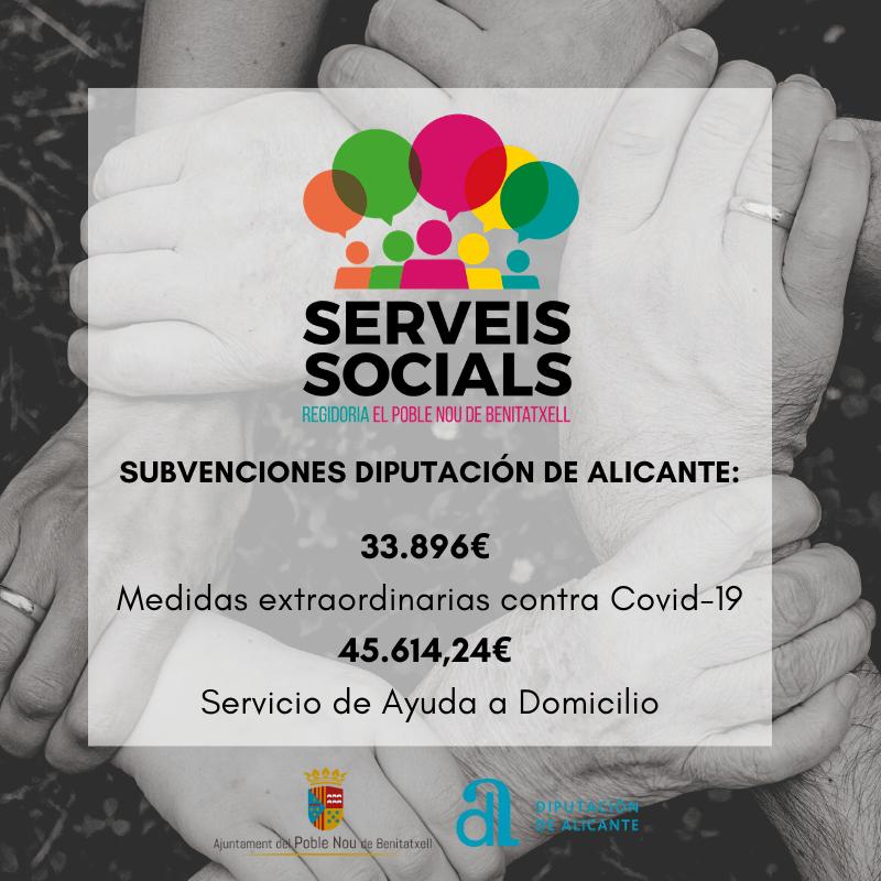 Subvención para Servicios Sociales de Benitatxell