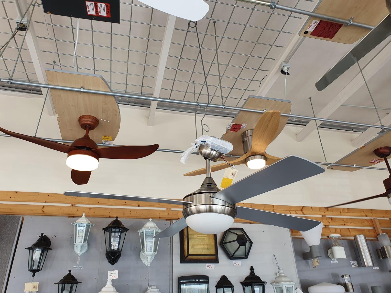 Tres ventiladores Vimaluz