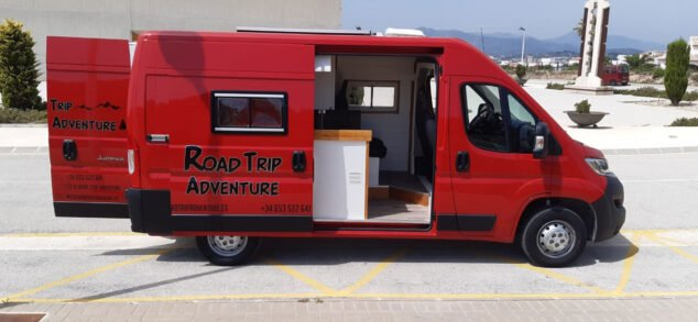 Image: Open-door view of the new Road Trip Adventure van