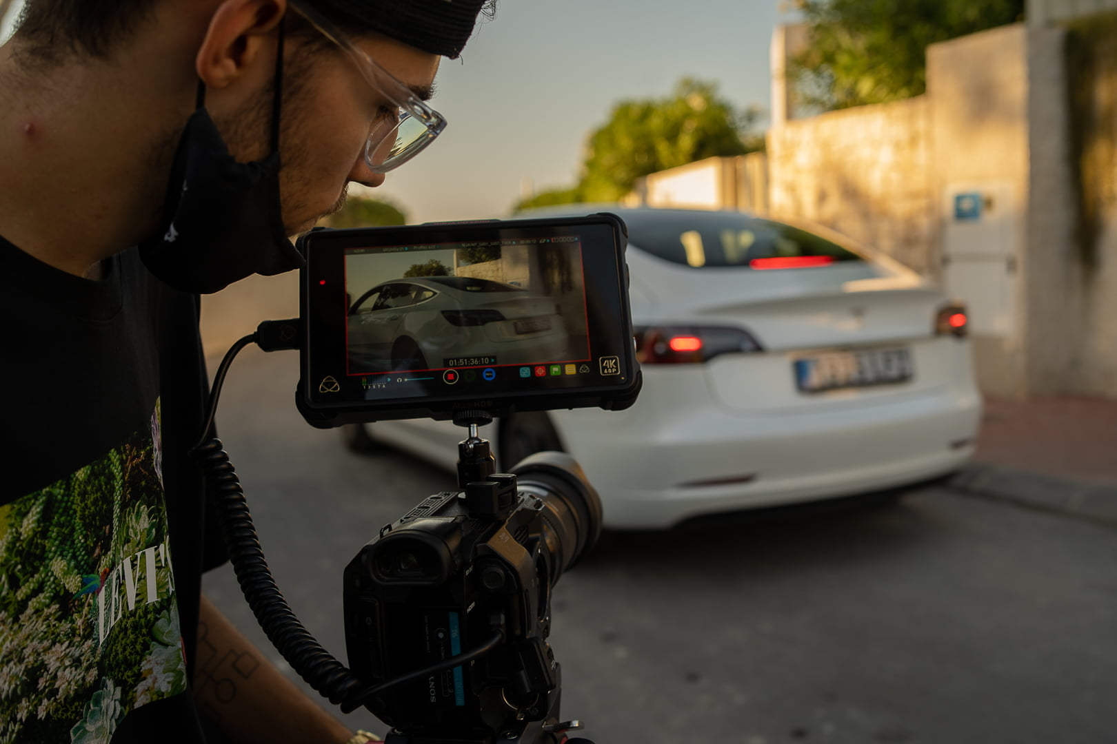 Alex Perez durante el rodaje del spot