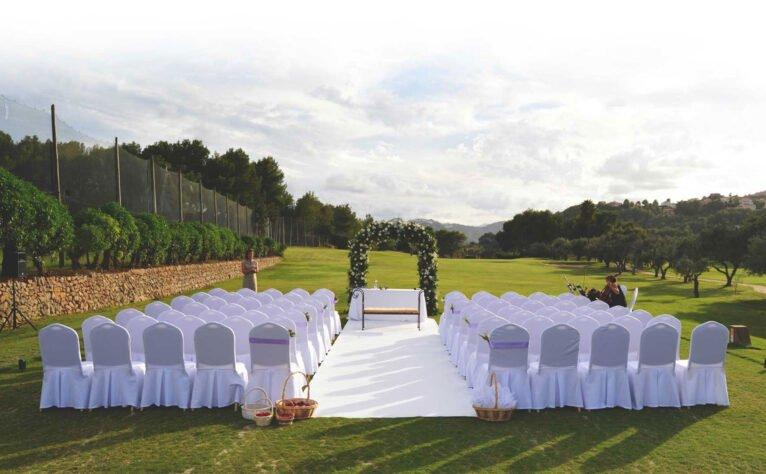 Boda preparada junto al campo de golf -  Hotel Dénia Marriott La Sella Golf Resort & Spa