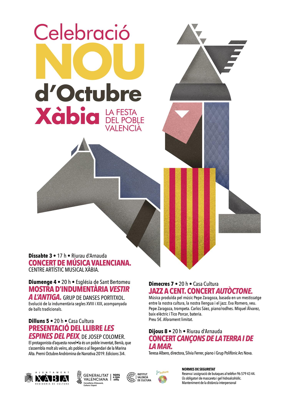 Cartel de la programación por el 9 de octubre