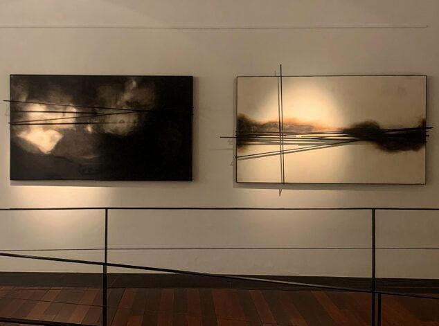 Imagen: Dos obras de Andrés Escrivá en la exposición de la Casa del Cable