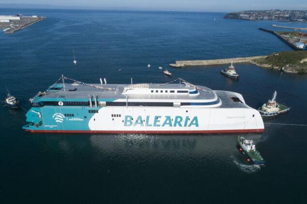 Imagen: El nuevo Fast Ferry de Baleària