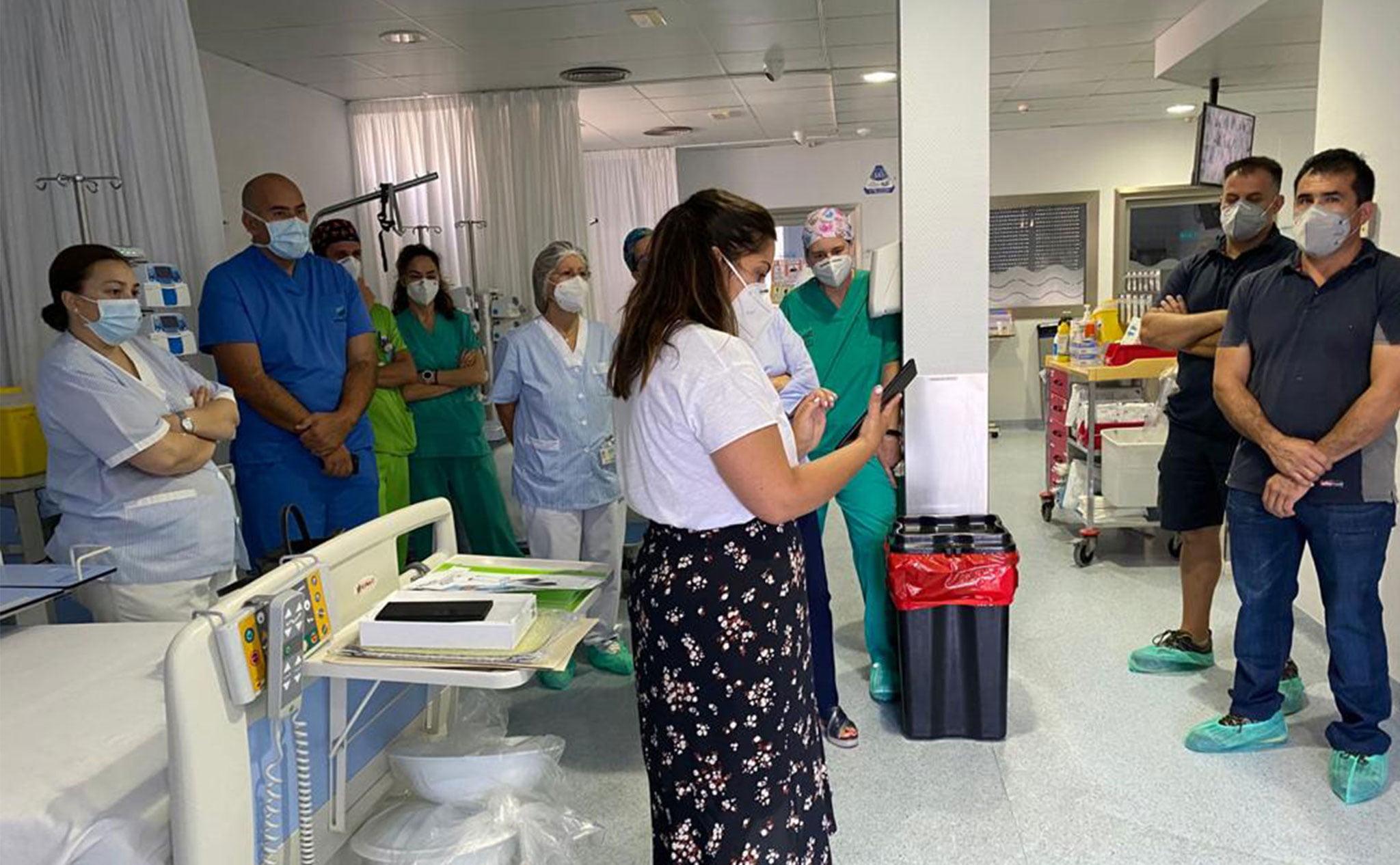 Formación del personal en el uso de la tecnología – Hospital Clínica Benidorm (HCB)