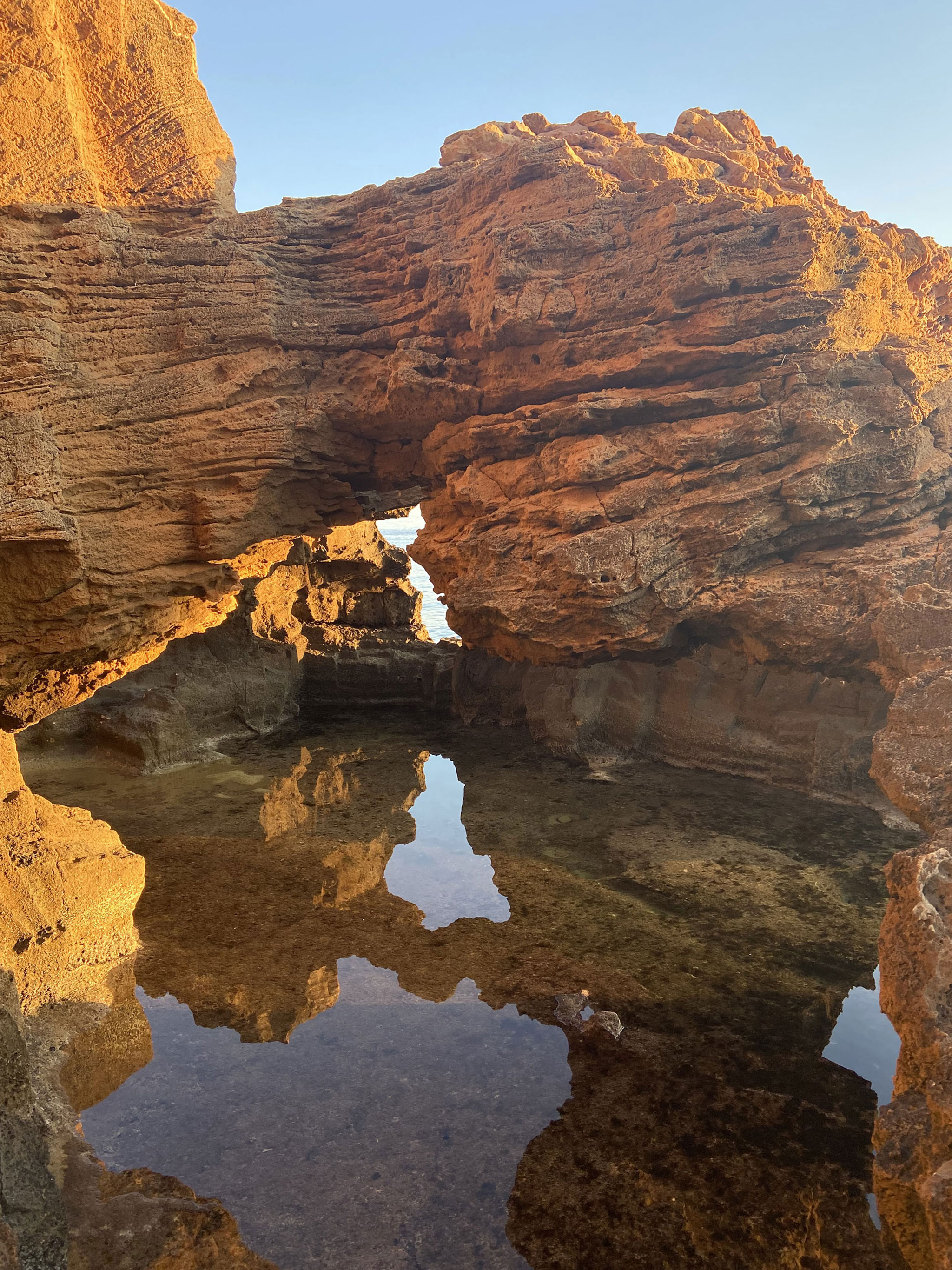 Formaciones rocosas de la Cova Tallada