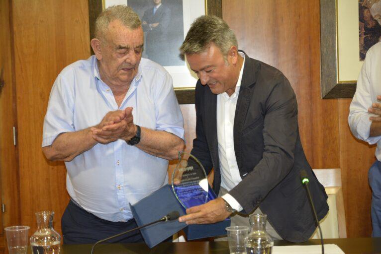 Homenaje del Ayuntamiento a Manolo en 2019