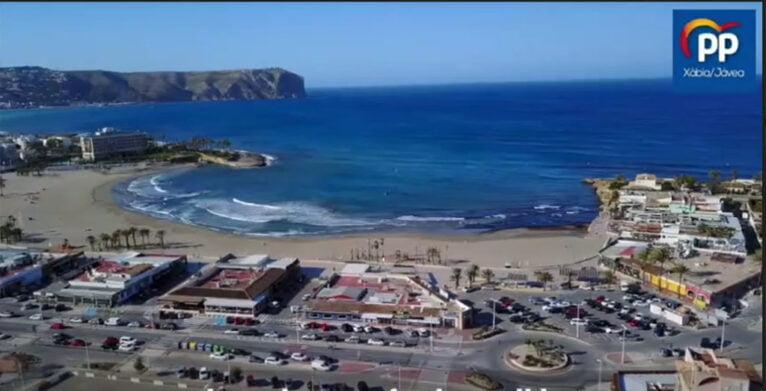 Imagen aérea del Arenal de Xàbia