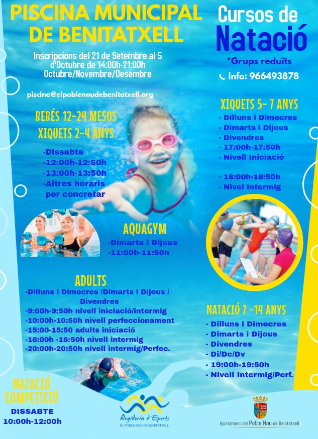 Imagen: Información para matrícula de la piscina municipal