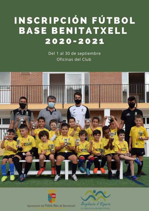 Imagen: Inscripción fútbol Benitatxell