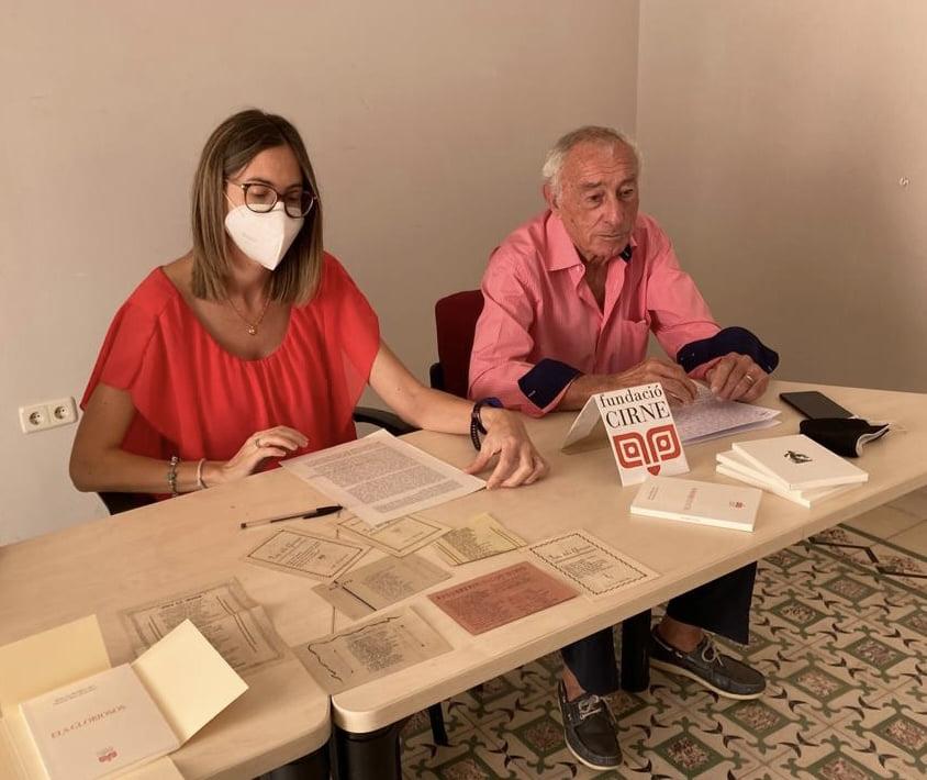Paco Reus y Mª del Mar Reus, investigadores de este parte histórica
