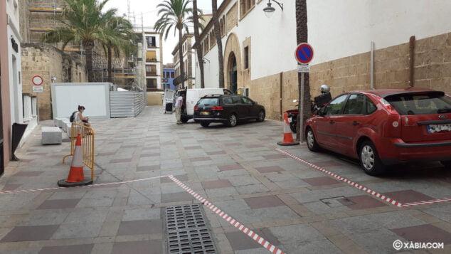 Imagen: Plaza Celestino Pons abierta al tráfico