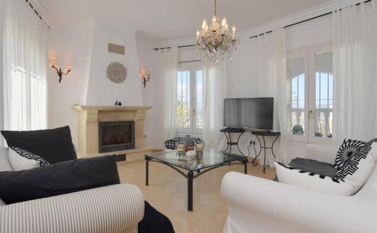 Salón de una casa de vacaciones en Benitatxell - Aguila Rent a Villa