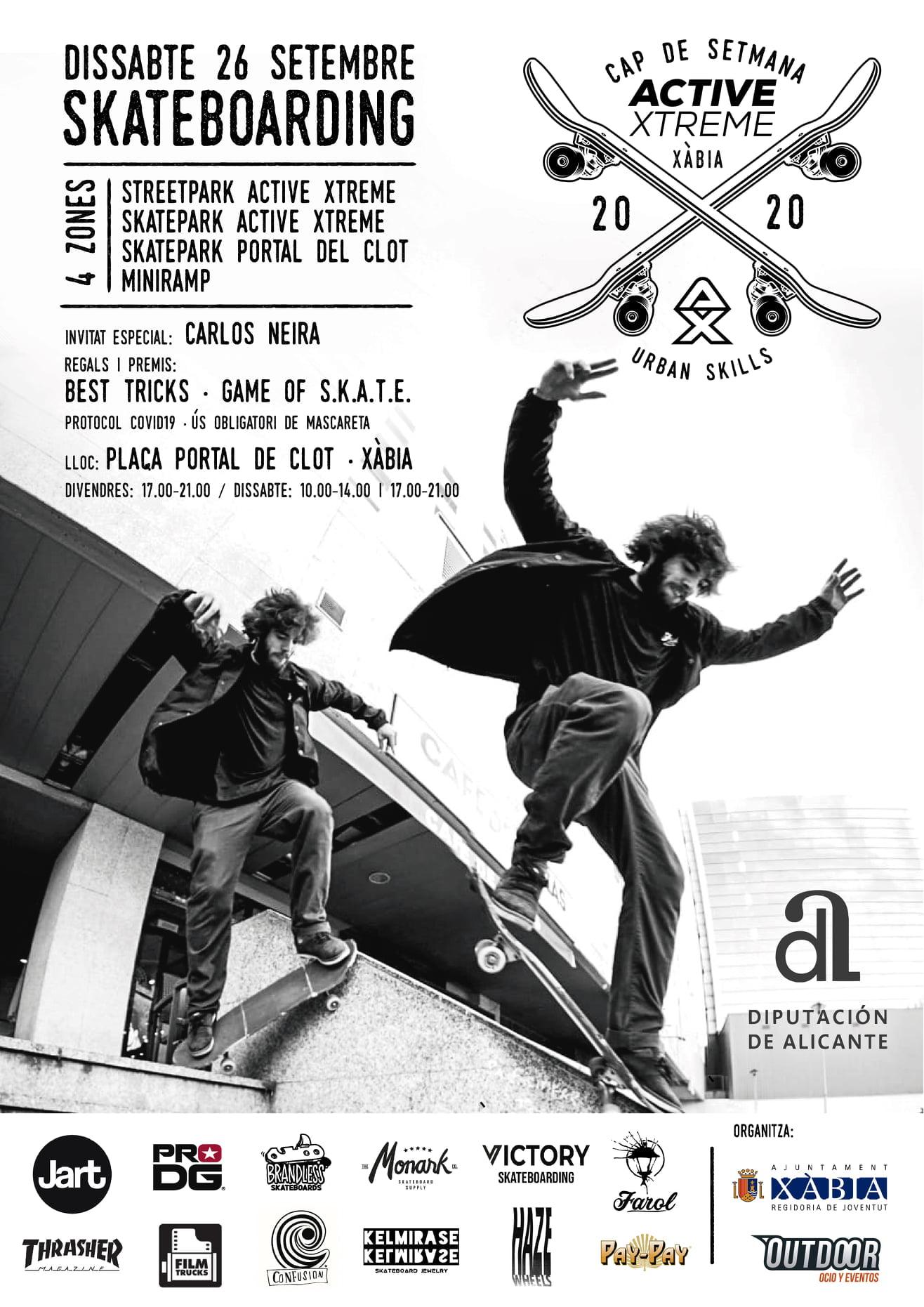 Skateboarding en Xàbia