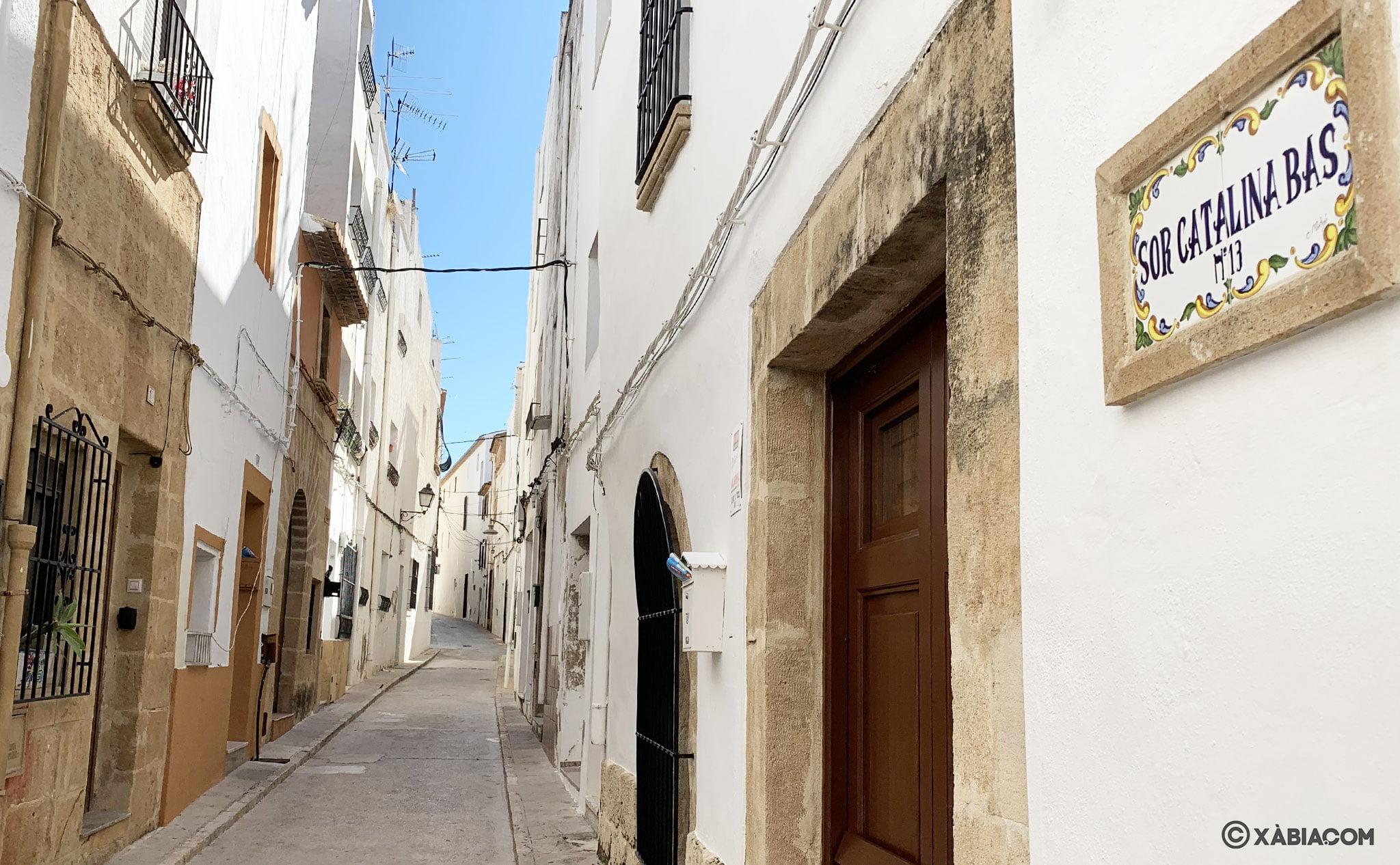 Vista general de la calle Sor Caterina Bas de Xàbia