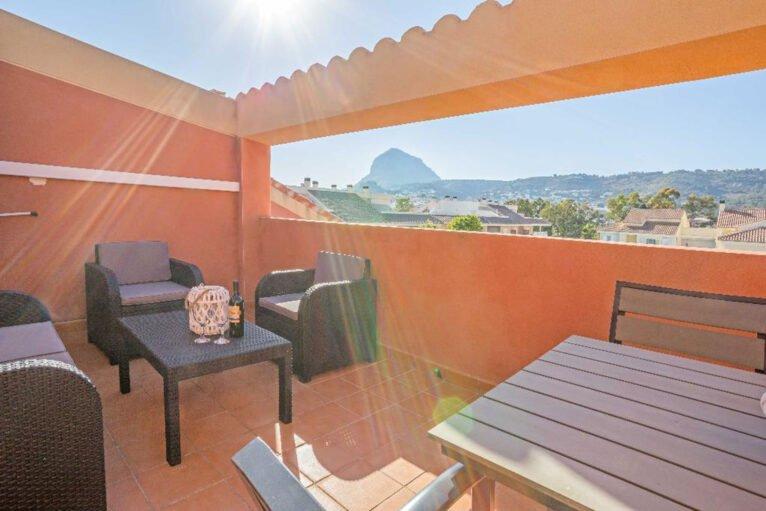 Vistas desde la terraza de un apartamento en alquiler en Jávea - MMC Properties