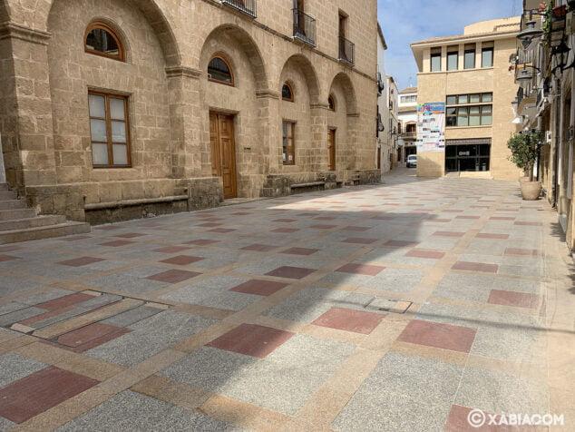 Imagen: Plaça de Baix durante el confinamiento