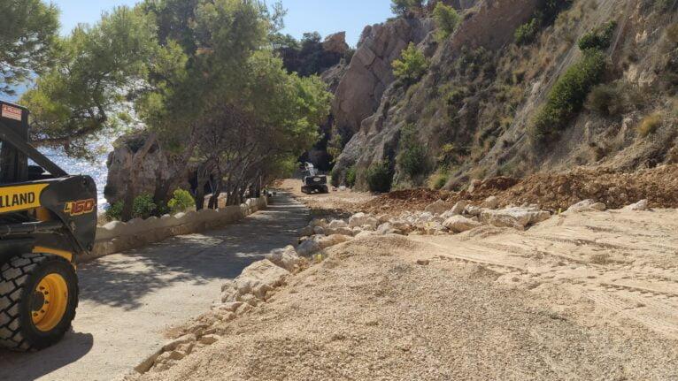 Acceso peatonal a la Cala del Moraig