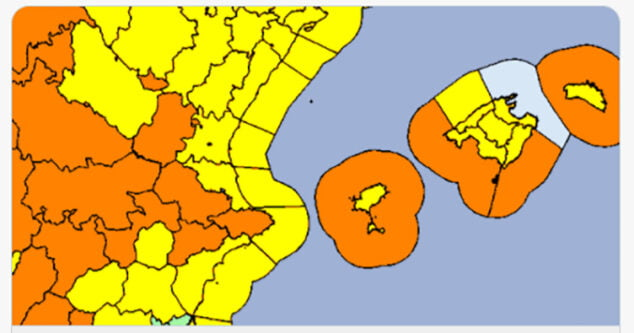 Imagen: Alerta naranja por fuertes vientos